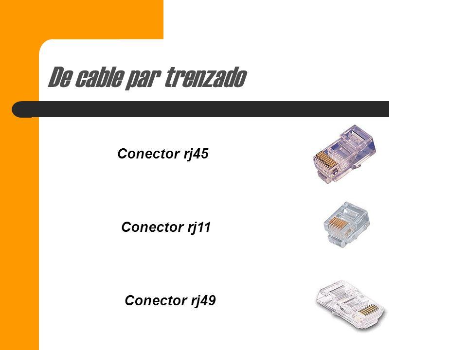 De cable par trenzado Conector rj45 Conector rj11 Conector rj49