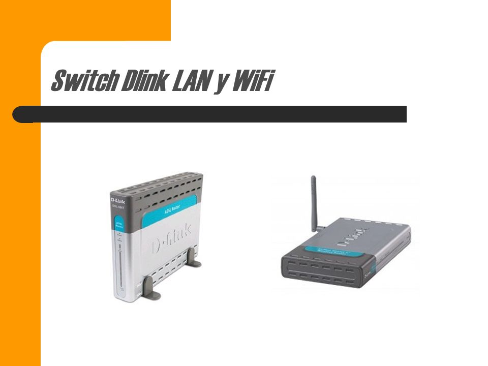 Switch Dlink LAN y WiFi