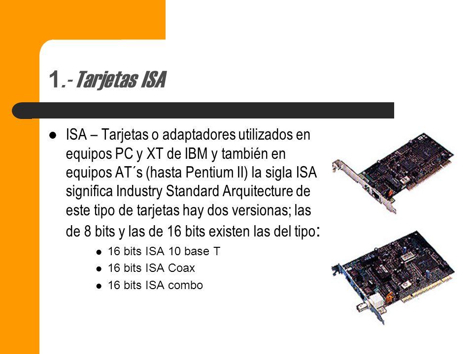 1.- Tarjetas ISA
