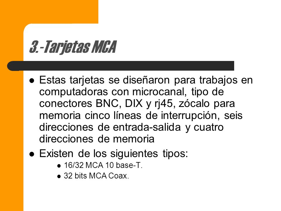 3.-Tarjetas MCA