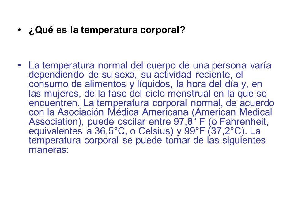 ¿Qué es la temperatura corporal