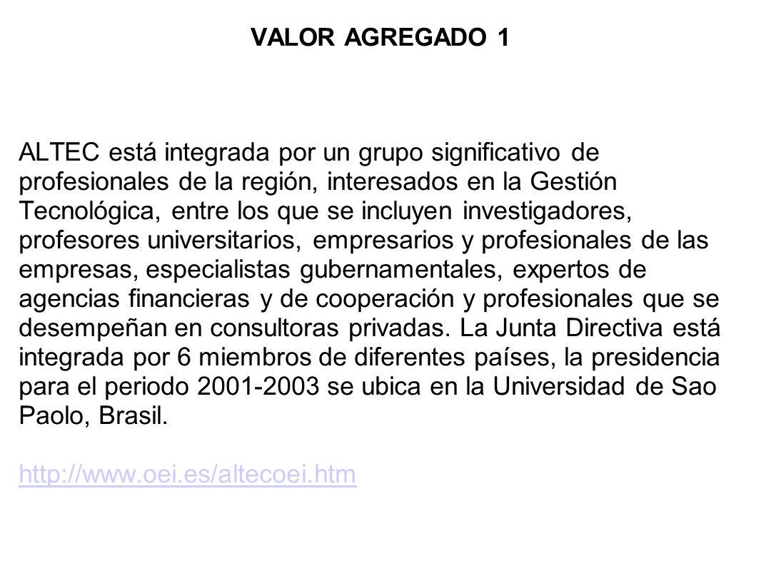 VALOR AGREGADO 1