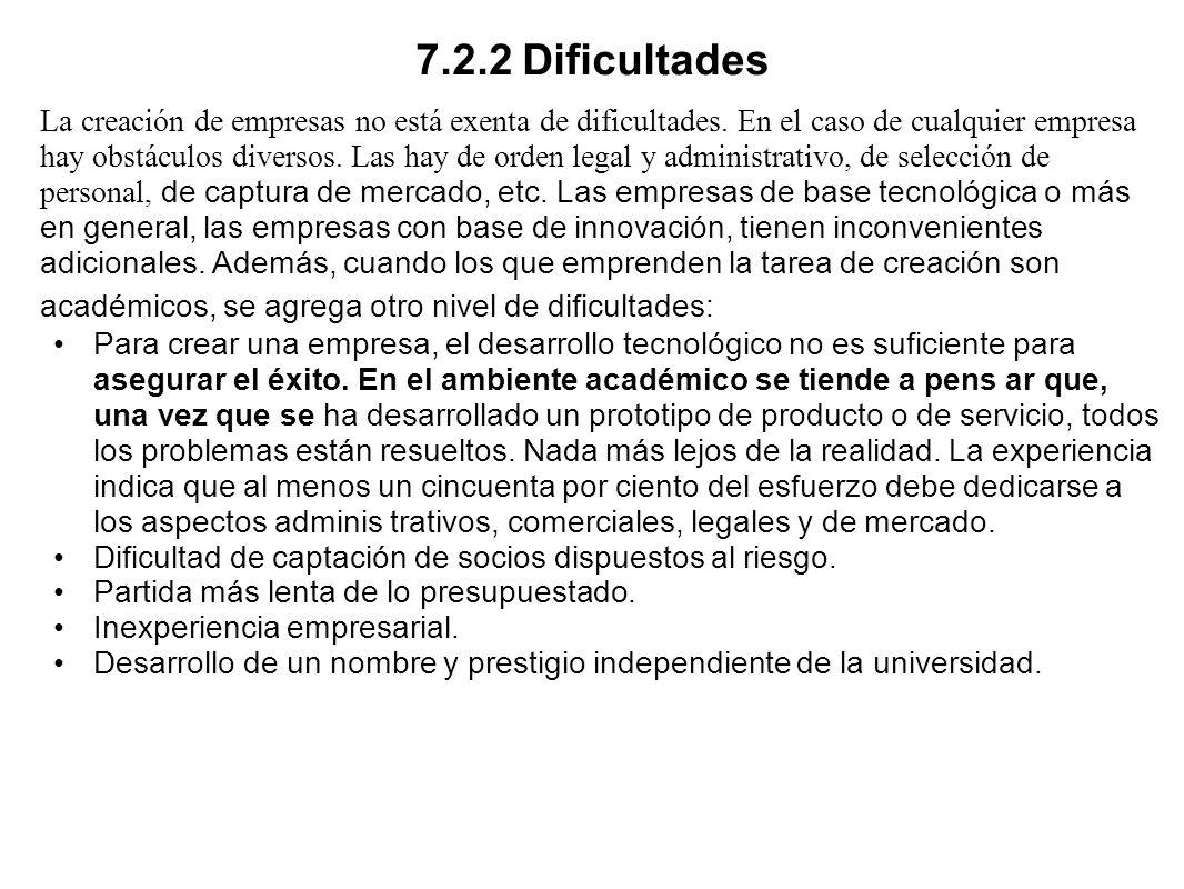 7.2.2 Dificultades
