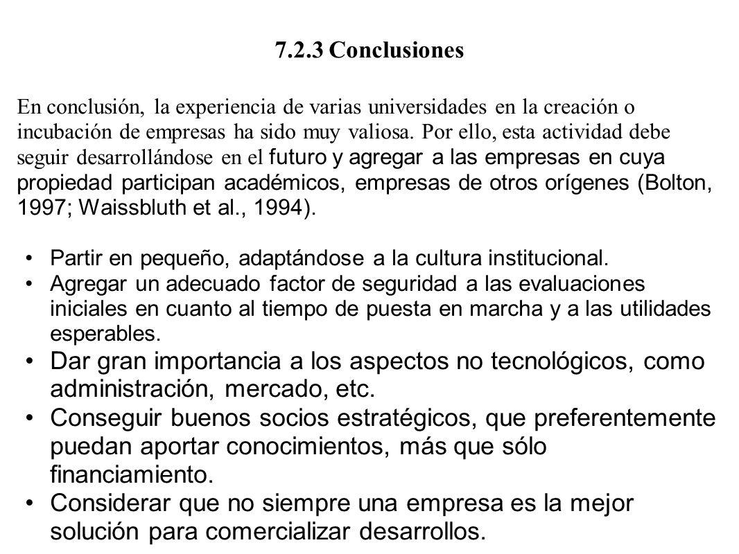 7.2.3 Conclusiones