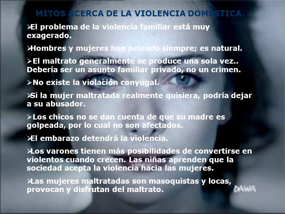 MITOS ACERCA DE LA VIOLENCIA DOMÉSTICA.