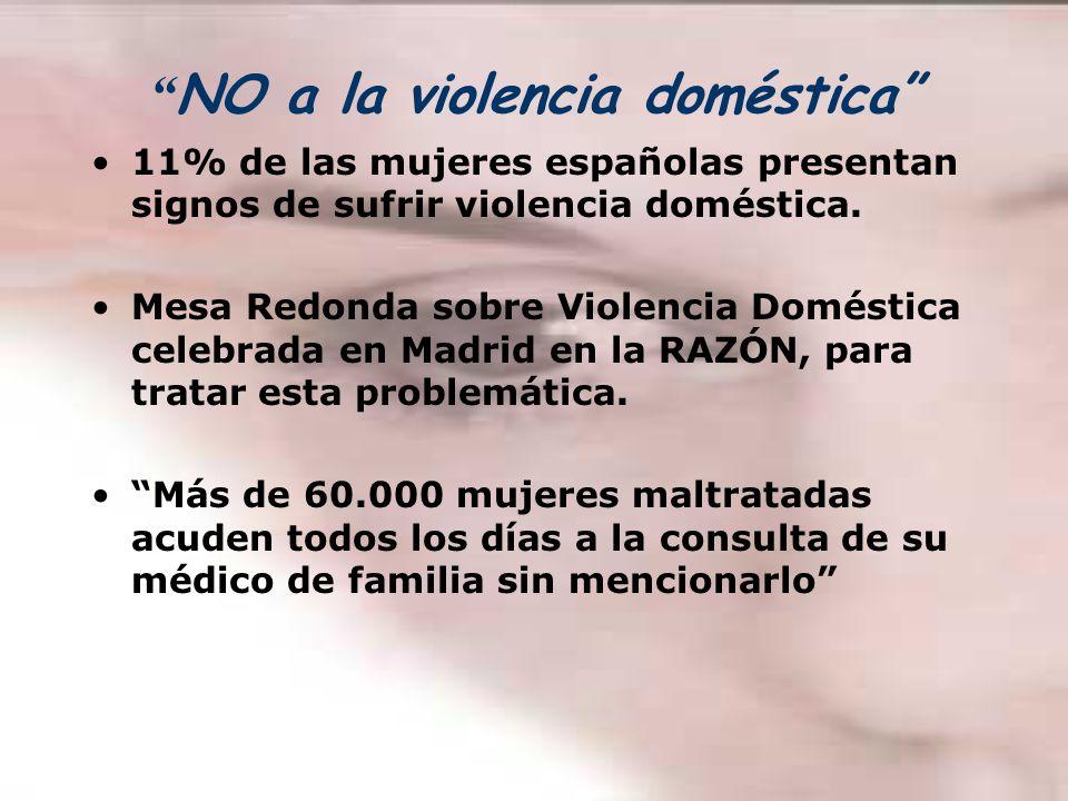 NO a la violencia doméstica