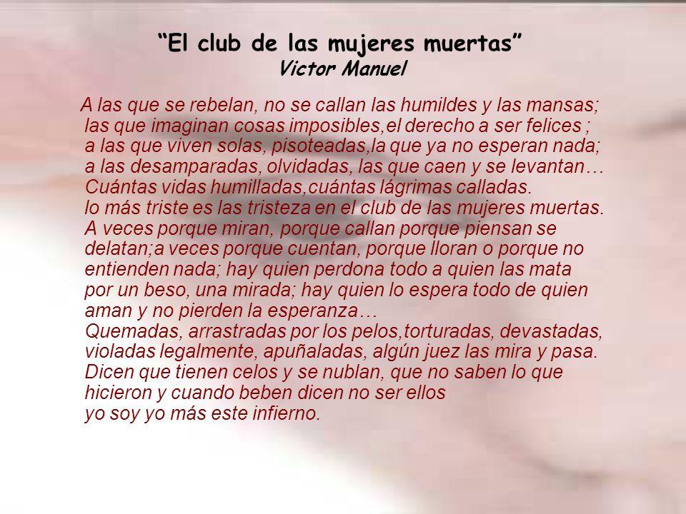 El club de las mujeres muertas Victor Manuel