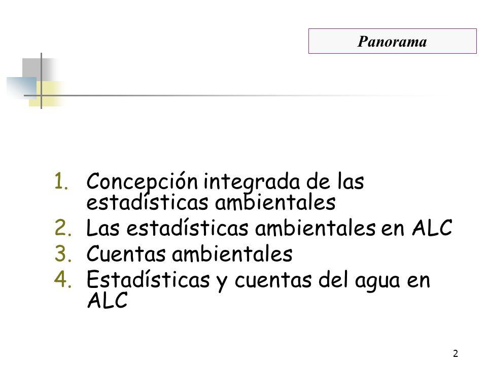 Concepción integrada de las estadísticas ambientales