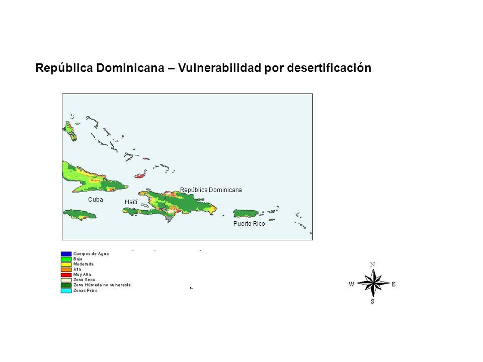 República Dominicana – Vulnerabilidad por desertificación