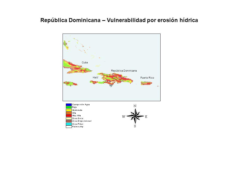 República Dominicana – Vulnerabilidad por erosión hídrica