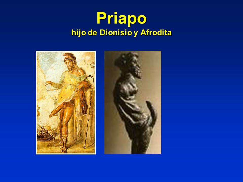 Priapo hijo de Dionisio y Afrodita