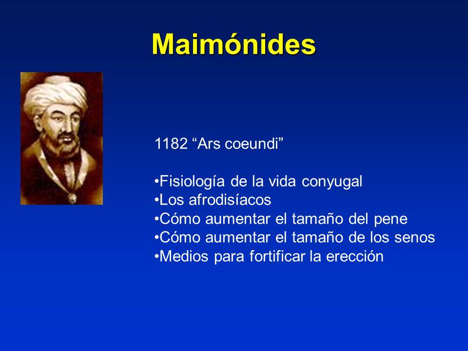Maimónides 1182 Ars coeundi Fisiología de la vida conyugal