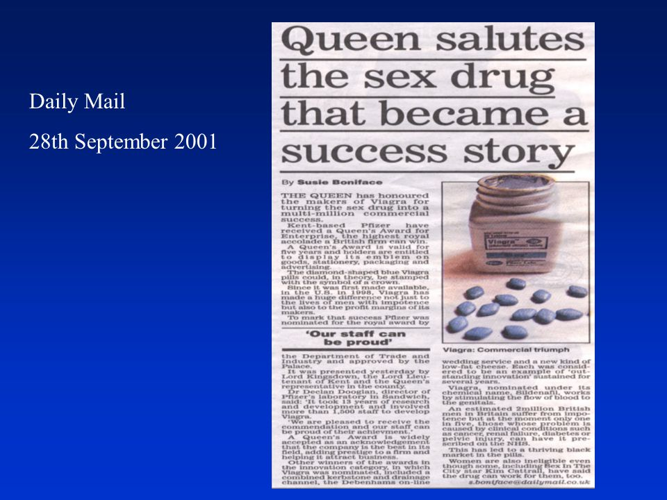 Daily Mail 28th September 2001