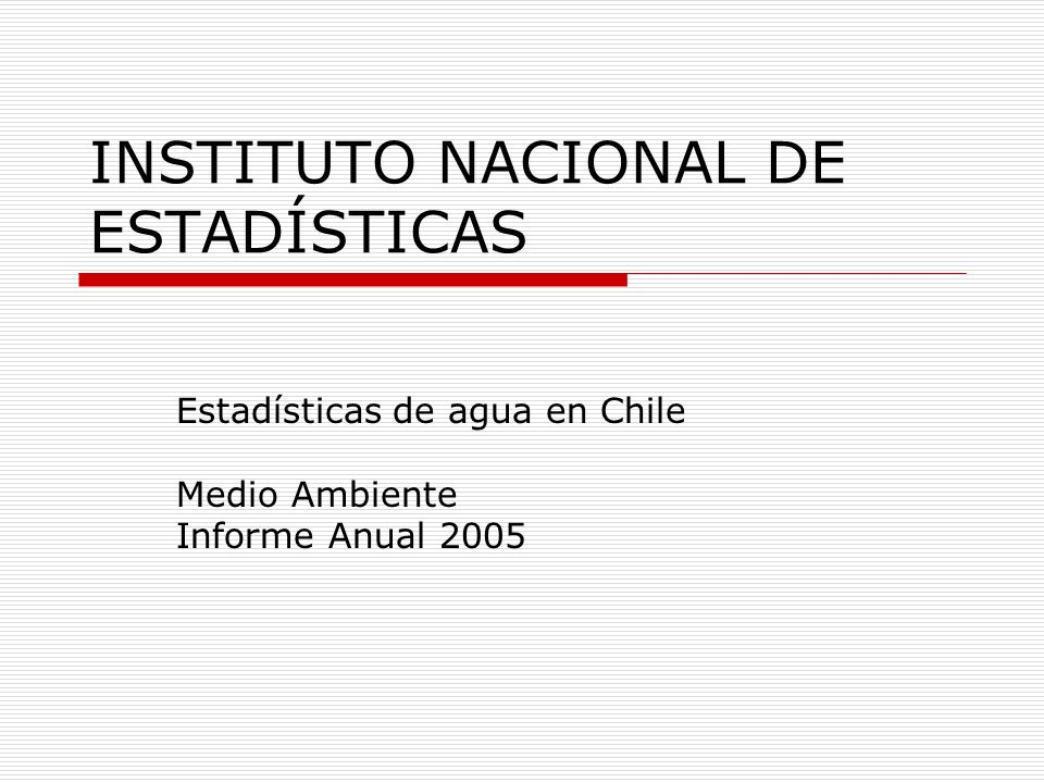 INSTITUTO NACIONAL DE ESTADÍSTICAS
