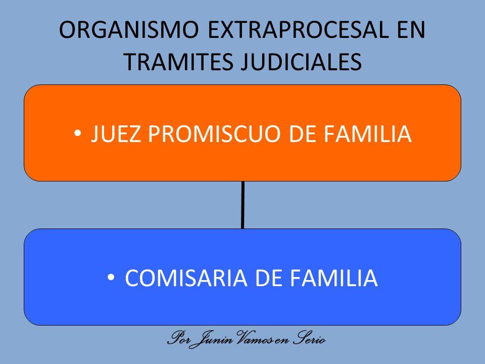 ORGANISMO EXTRAPROCESAL EN TRAMITES JUDICIALES