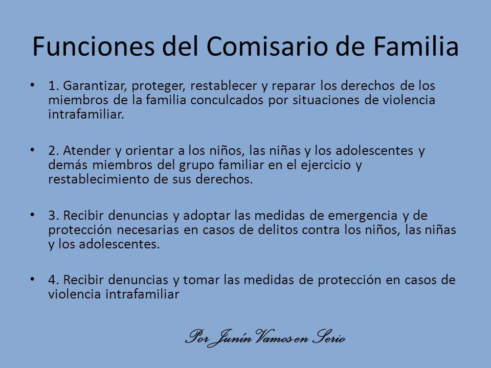 Funciones del Comisario de Familia