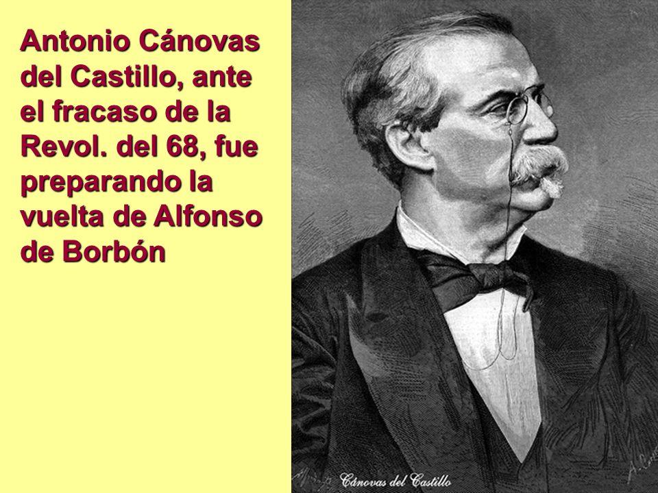 Antonio Cánovas del Castillo, ante el fracaso de la Revol