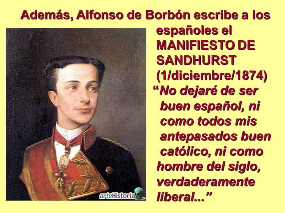 Además, Alfonso de Borbón escribe a los