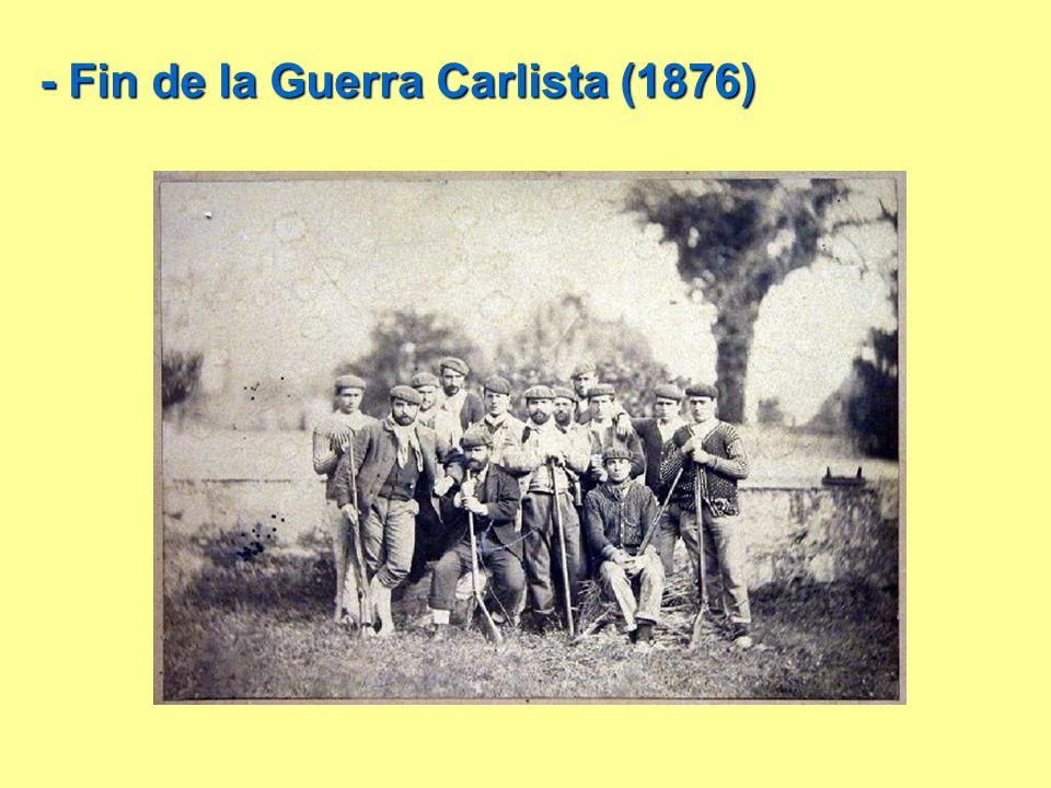 - Fin de la Guerra Carlista (1876)