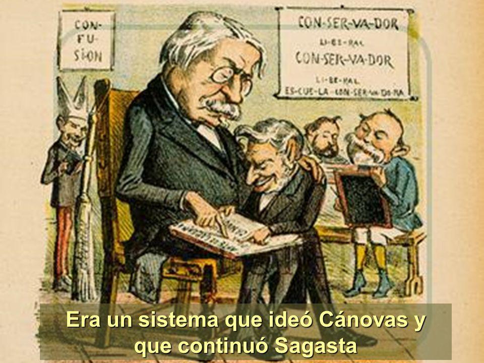 Era un sistema que ideó Cánovas y que continuó Sagasta