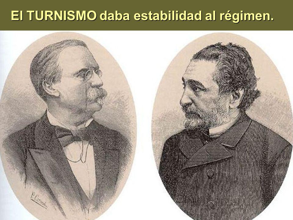 El TURNISMO daba estabilidad al régimen.