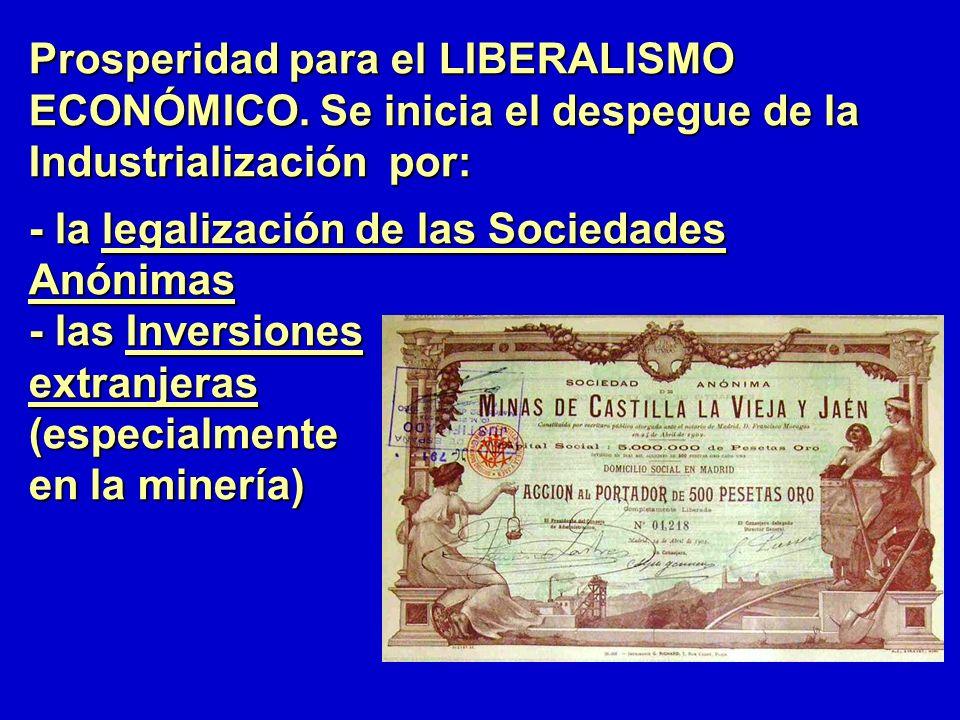 Prosperidad para el LIBERALISMO ECONÓMICO