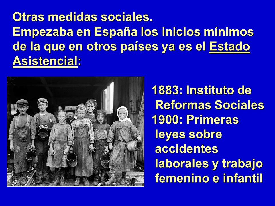 Otras medidas sociales.