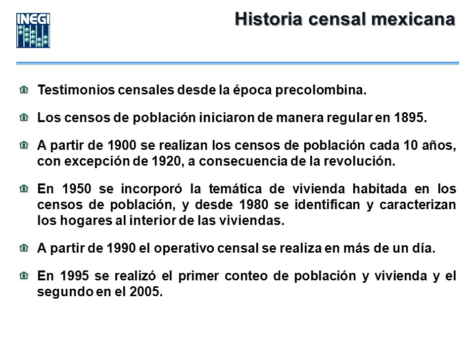 Historia censal mexicana
