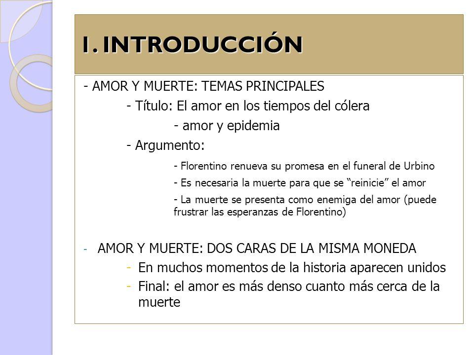 1. INTRODUCCIÓN - AMOR Y MUERTE: TEMAS PRINCIPALES