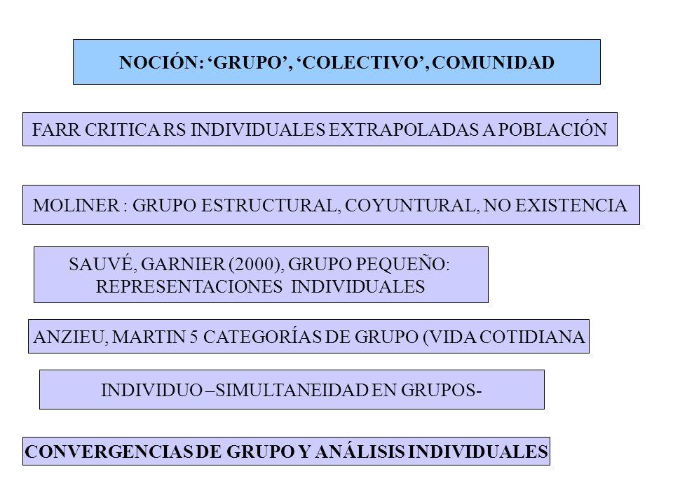 NOCIÓN: 'GRUPO', 'COLECTIVO', COMUNIDAD