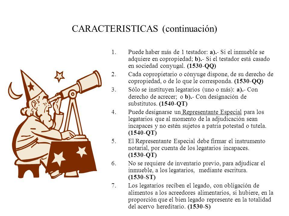 CARACTERISTICAS (continuación)