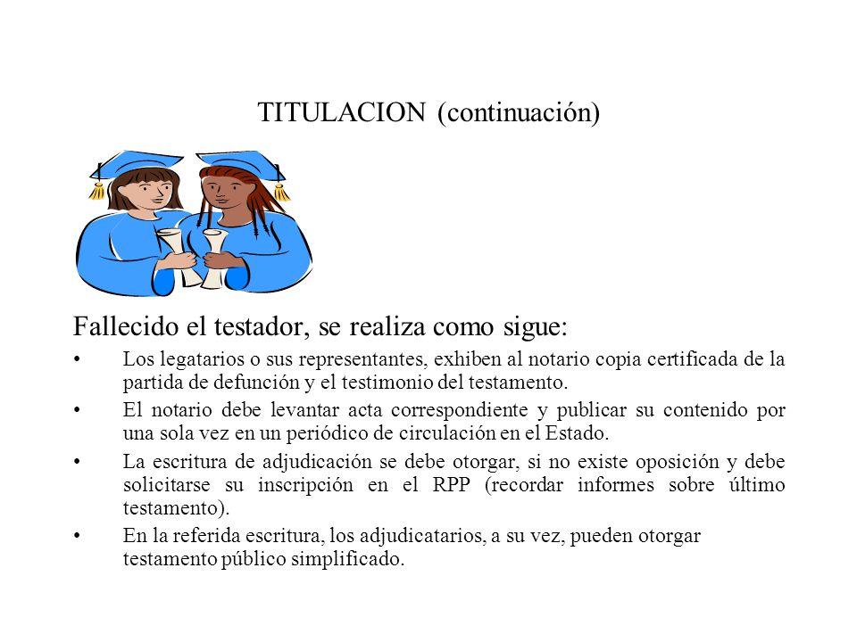 TITULACION (continuación)