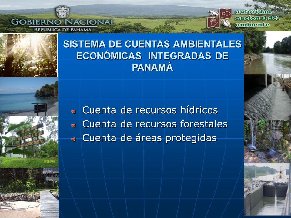 SISTEMA DE CUENTAS AMBIENTALES ECONÓMICAS INTEGRADAS DE PANAMÁ