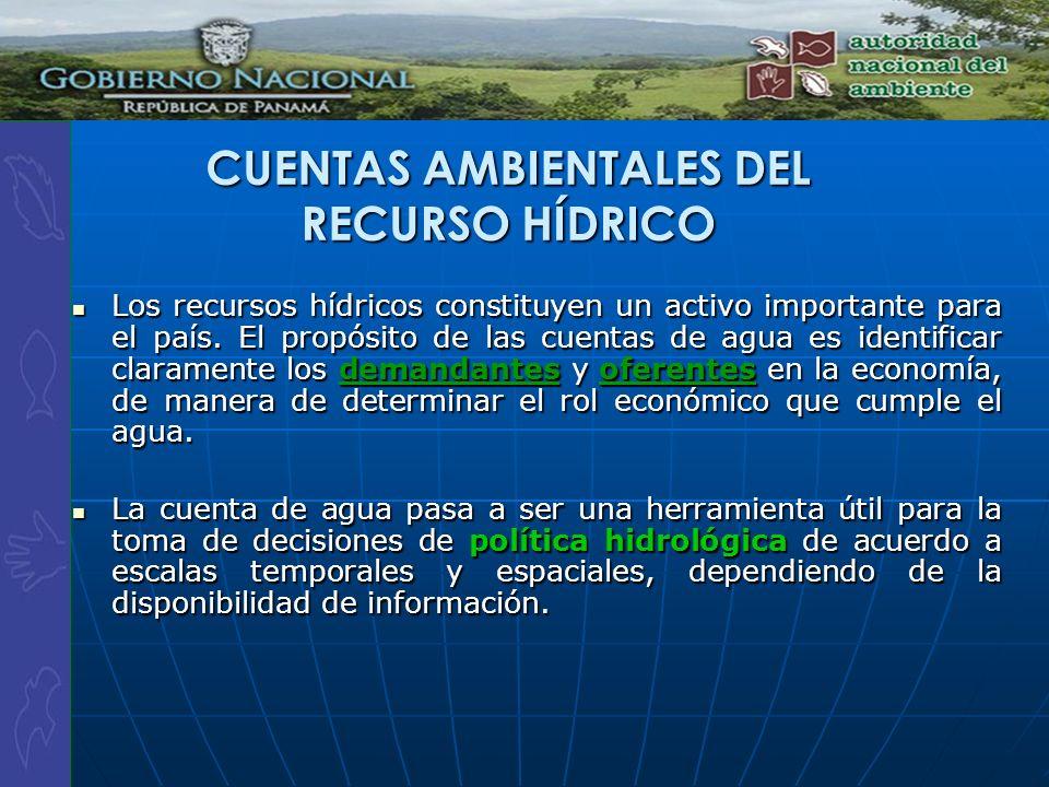 CUENTAS AMBIENTALES DEL RECURSO HÍDRICO