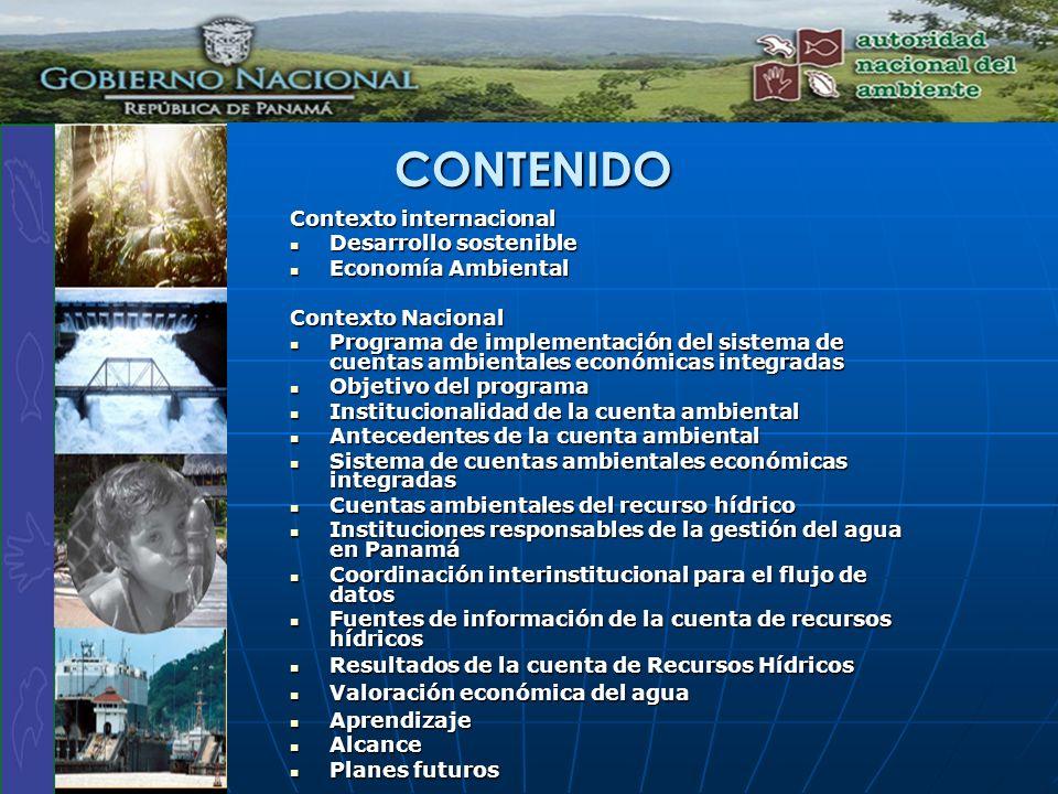 CONTENIDO Contexto internacional Desarrollo sostenible
