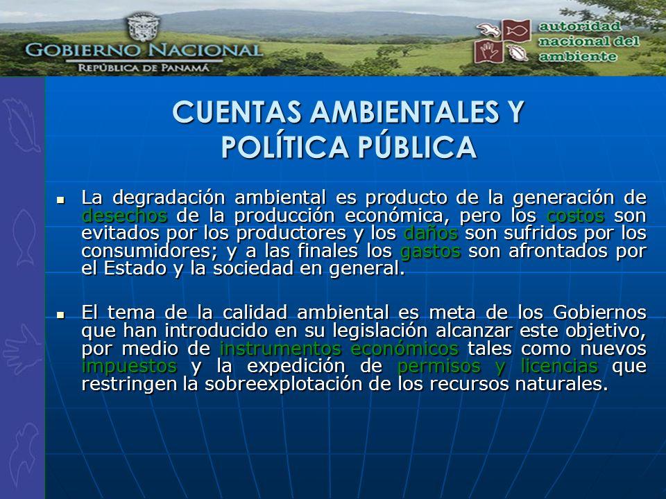CUENTAS AMBIENTALES Y POLÍTICA PÚBLICA