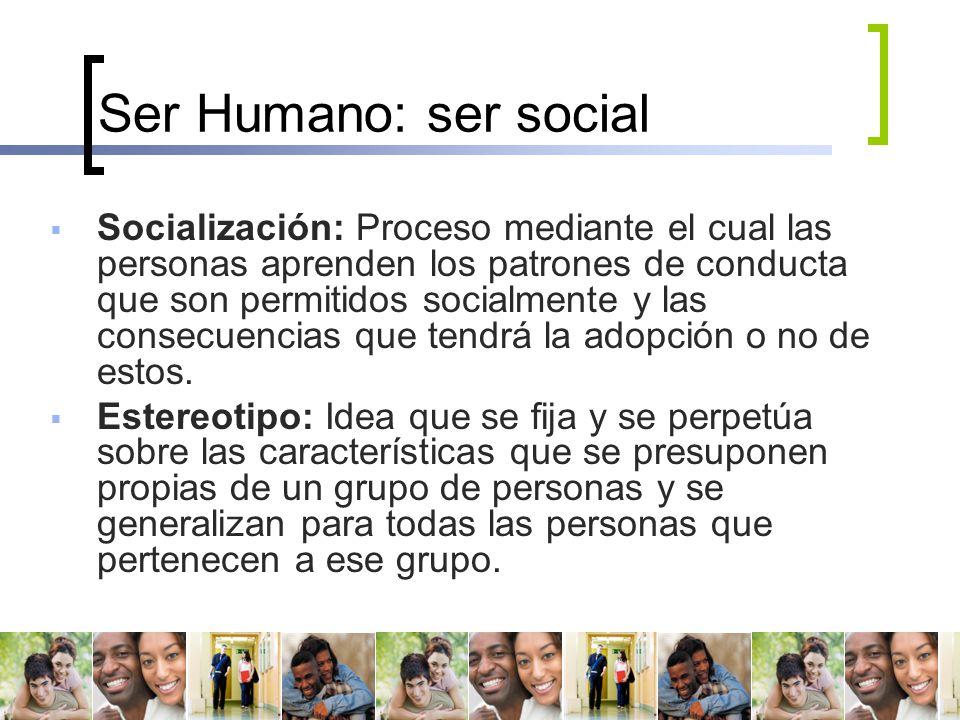 Ser Humano: ser social