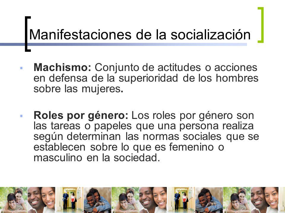 Manifestaciones de la socialización