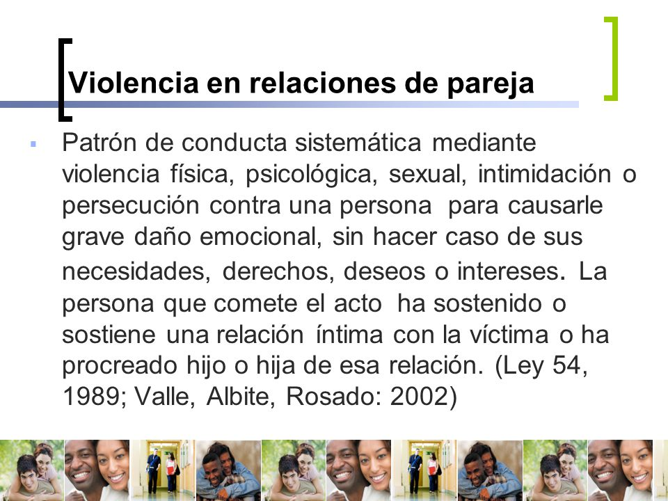 Violencia en relaciones de pareja