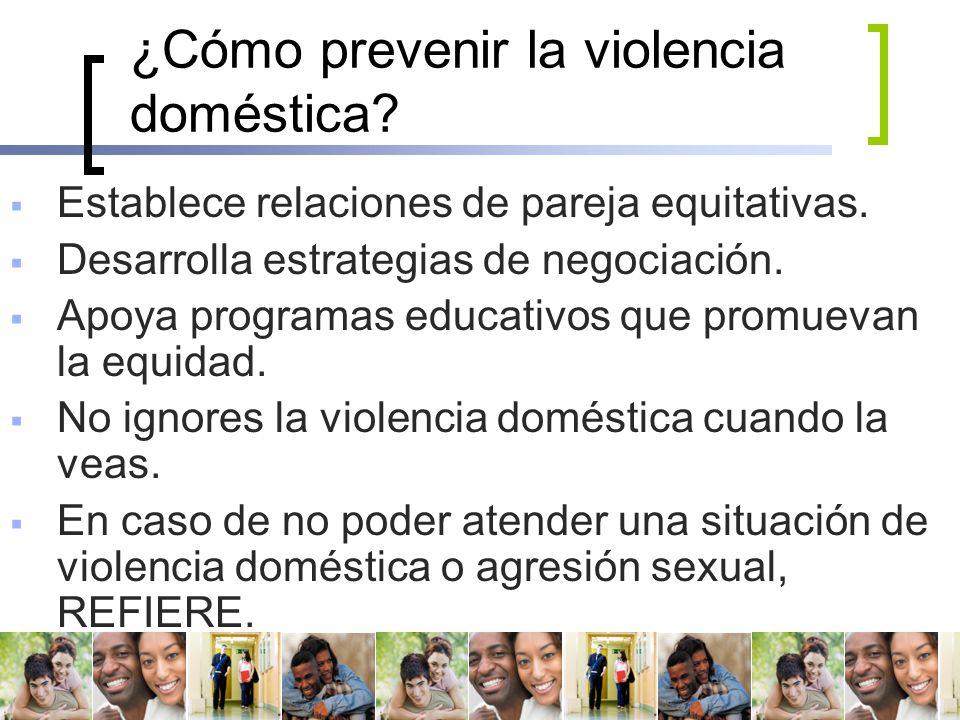¿Cómo prevenir la violencia doméstica