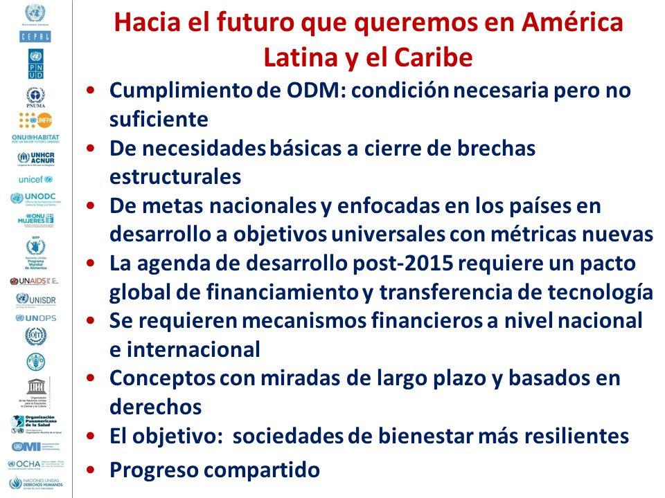 Hacia el futuro que queremos en América Latina y el Caribe