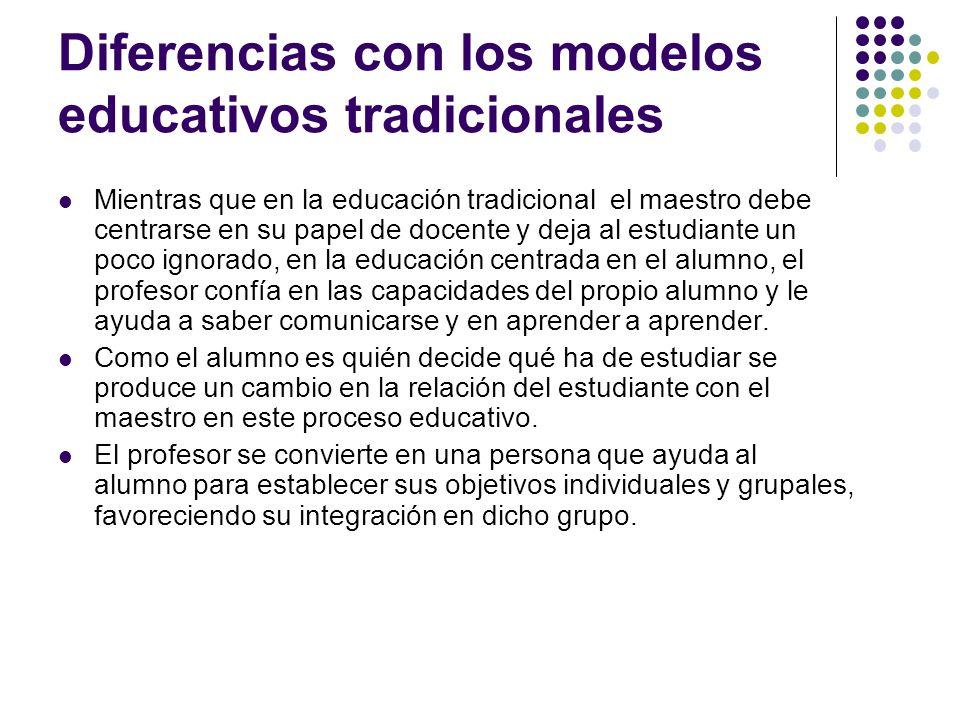 Diferencias con los modelos educativos tradicionales