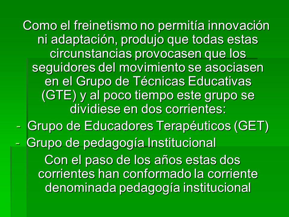Grupo de Educadores Terapéuticos (GET)