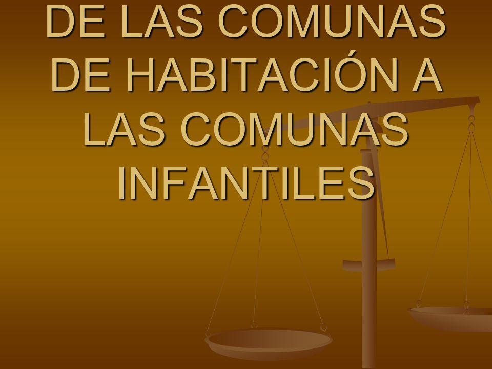 DE LAS COMUNAS DE HABITACIÓN A LAS COMUNAS INFANTILES