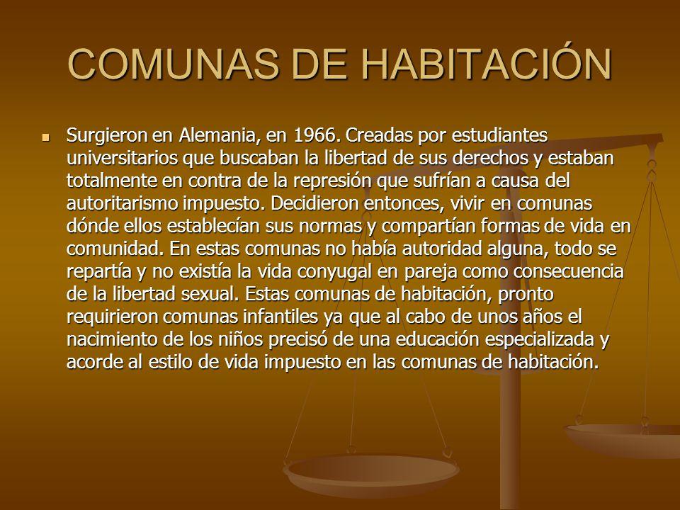 COMUNAS DE HABITACIÓN
