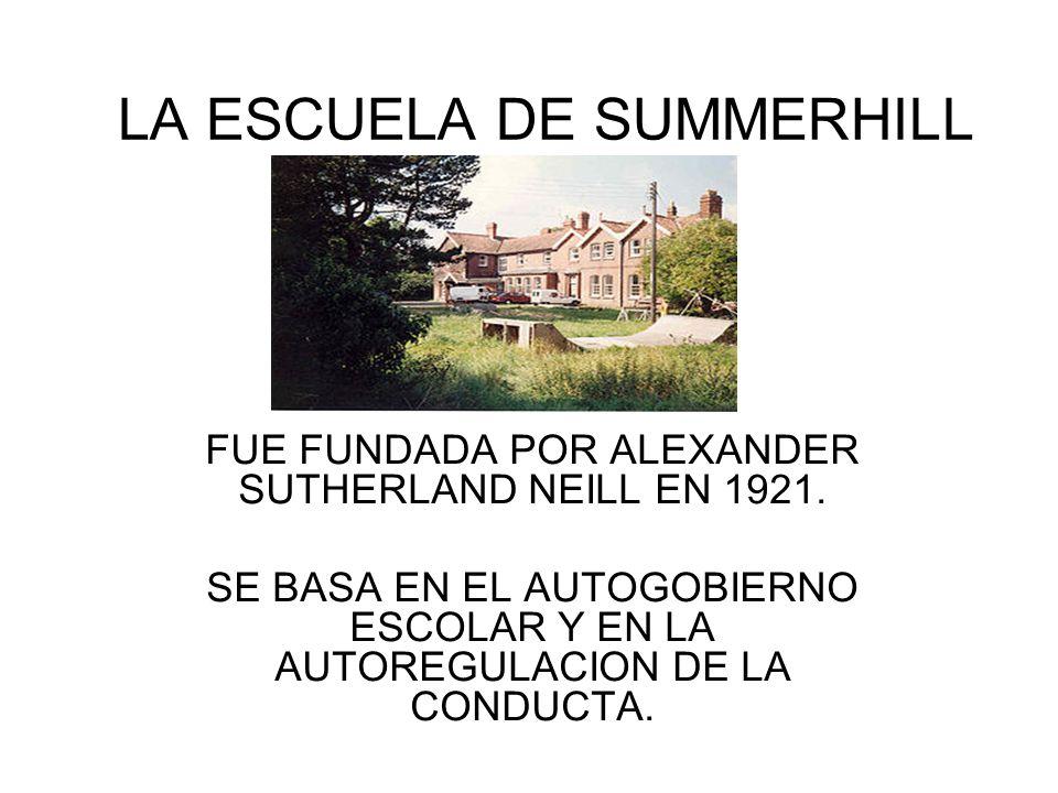 LA ESCUELA DE SUMMERHILL