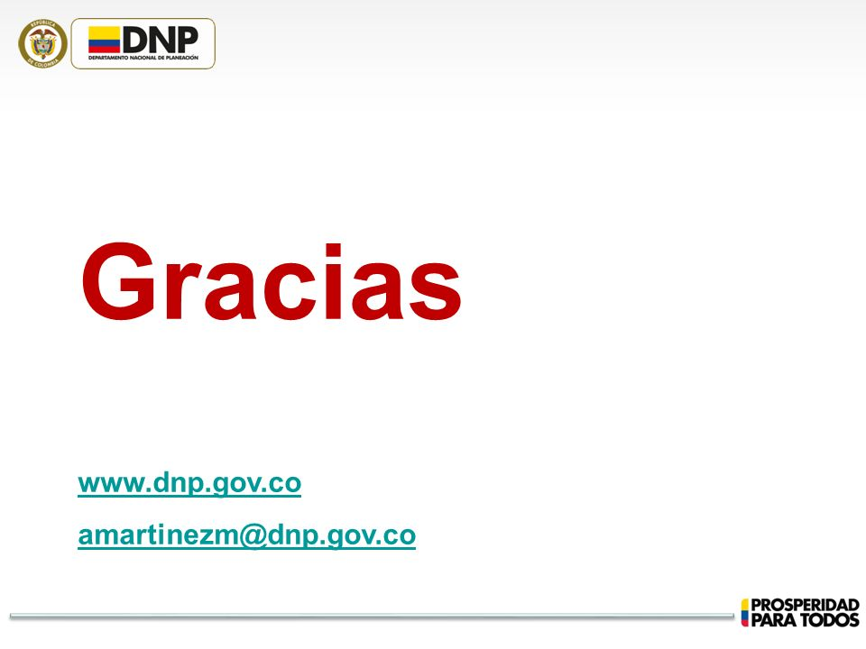 Gracias www.dnp.gov.co amartinezm@dnp.gov.co