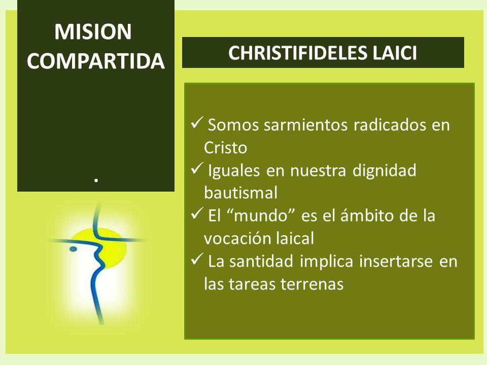 MISION COMPARTIDA CHRISTIFIDELES LAICI .