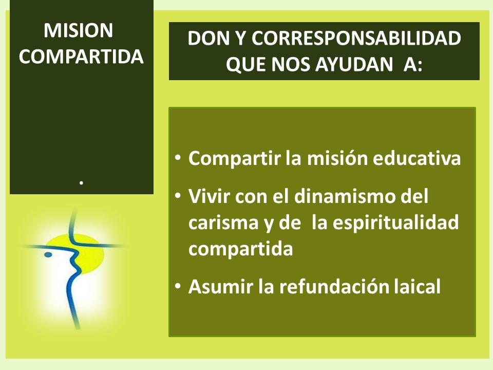 DON Y CORRESPONSABILIDAD QUE NOS AYUDAN A:
