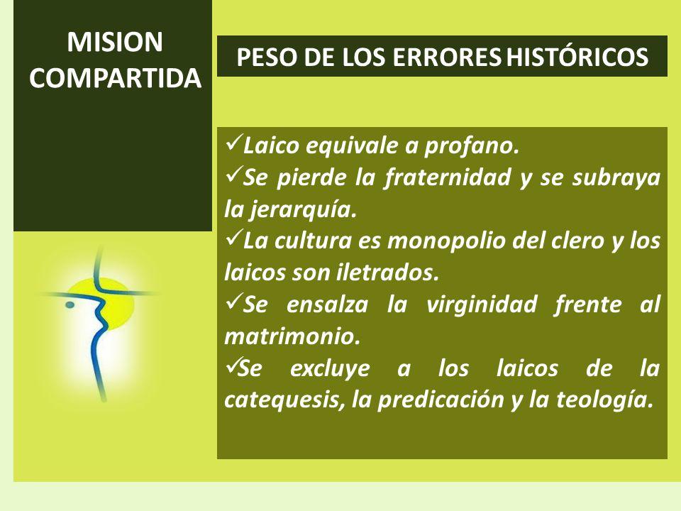 PESO DE LOS ERRORES HISTÓRICOS